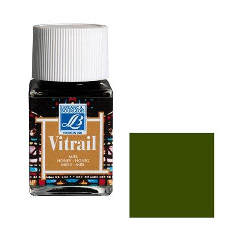 """Краска лаковая прозрачная по стеклу Lefranc Bourgeois """"Vitrail"""" №541 Оливковая/б.50мл"""