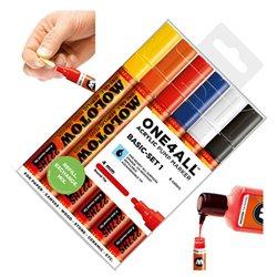 Набор маркеров Molotow 227HS Basic-Set I, 6 цв.х 4 мм