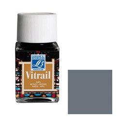 """Краска лаковая прозрачная по стеклу Lefranc Bourgeois """"Vitrail"""" №251 Серая/б.50мл"""