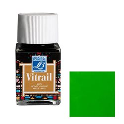 """Краска лаковая прозрачная по стеклу Lefranc Bourgeois """"Vitrail"""" №534 Зелёная/б.50мл"""