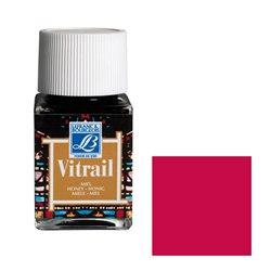 """Краска лаковая прозрачная по стеклу Lefranc Bourgeois """"Vitrail"""" №466 Глубоко красный/б.50мл"""