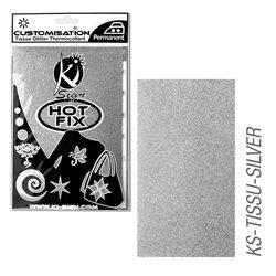 Пленка цветная для создания термопереносимого рисунка на ткань/ серебро с глиттером ,15х20 см