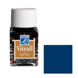 """Краска лаковая прозрачная по стеклу Lefranc Bourgeois """"Vitrail"""" №465 Синяя/б.50мл"""