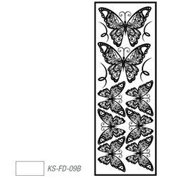 """Мотив с эффектом велюра """"Бабочки"""" белый, термотрансфертный 10х30см"""