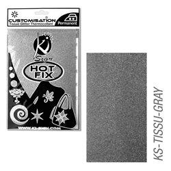 Пленка цветная для создания термопереносимого рисунка на ткань/ антрацит с глиттером ,15х20 см