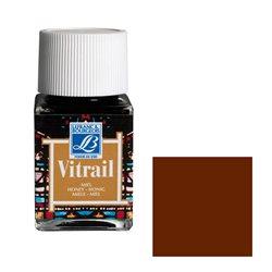 """Краска лаковая прозрачная по стеклу Lefranc Bourgeois """"Vitrail"""" №102 Коричневый/б.50мл"""