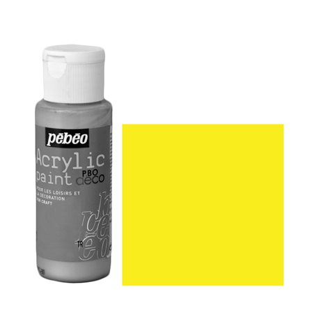 Краска декоративная акрил. Pebeo PBO DECO/ Желтый неоновый