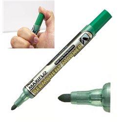 Маркер перманентный зеленый с жидкими чернилами и кнопкой подкачки чернил