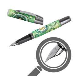 Перьевая ручка Campus Зеленый сад, перо М, для девочек