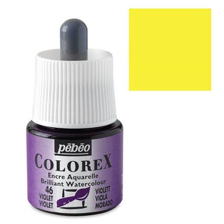 Желтый лимонный/ Акварельная тушь Colorex, 45 мл