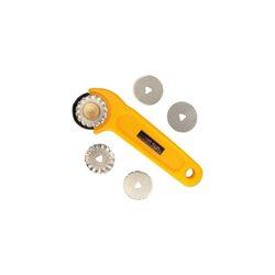 Нож с 5-ю лезвиями D 45 мм (прямой, пунктир, маркировочный,волна,зигзаг)