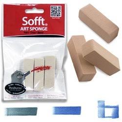 Набор плоских спонжей Art Sponge PanPastel, 3 шт. в полиэт. упаковке