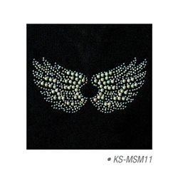 """Мотив из страз """"Крылья ангела"""", термотрансфертный 10х15 см"""