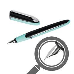 Перьевая ручка AIR Soft корпус черно-ментоловый, перо М