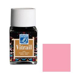 """Краска лаковая прозрачная по стеклу Lefranc Bourgeois """"Vitrail"""" №374 Розовый/б.50мл"""