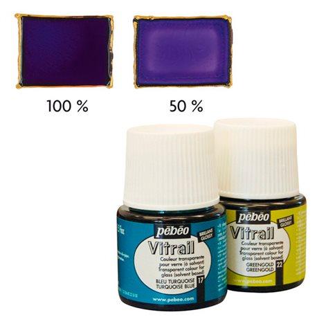 Краска лаковая по стеклу и металлу Pebeo Vitrail/Фиолетовый 45 мл
