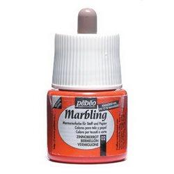 Краска Marbling для техники ЭБРУ/ 45 мл/ киноварь