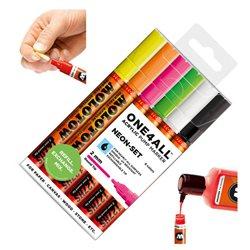 Набор маркеров Molotow 127HS Неоновые цвета, 6 цв.х 2 мм
