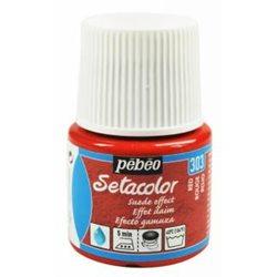 Краска по тканям с эффектом ЗАМШИ Setacolor Opaque effet DAIM красный/45мл