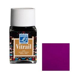 """Краска лаковая прозрачная по стеклу Lefranc Bourgeois """"Vitrail"""" №350 Пурпурная/б.50мл"""