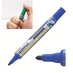 Маркер перманентный синий с жидкими чернилами и кнопкой подкачки чернил 4,5 мм