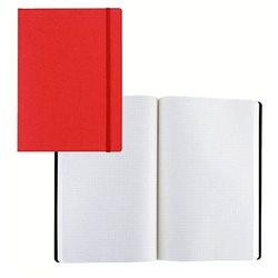 Ноотбук малиновый с резинкой А5, 80 листов в матречную точку 85 г/м2