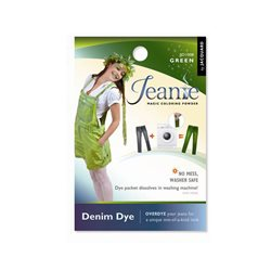 Jeanie Dye, джинсовый краситель для перекрашивания в стир. машине, 008 зеленый