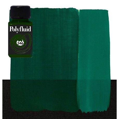 """Краска акриловая """"Polyfluid"""" / Зеленый темный"""