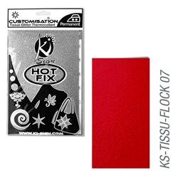 Пленка цветная для создания термопереносимого декора на ткань/ Красный велюр ,15х20 см