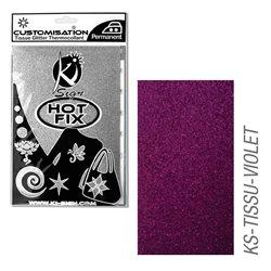 Пленка цветная для создания термопереносимого рисунка на ткань/ фиолетовый глиттер,15х20 см