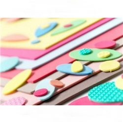 Набор цветных объемных листов из каучук.массы А4- 20 лист. в ассорт