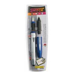 Ручка SWITCH 2 в 1 (перо + роллер), стило для смартфона/ синий корпус