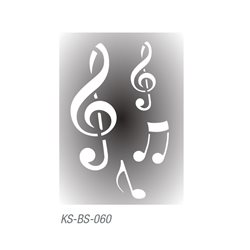 "Трафарет для тату ""Скрипичный знак, ноты"" 7х10 см"