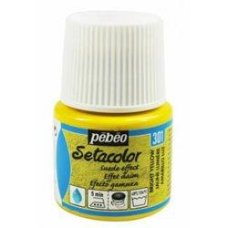 Краска по тканям с эффектом ЗАМШИ Setacolor Opaque effet DAIM желтый яркий/45мл