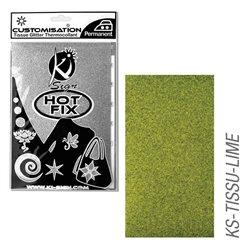 Пленка цветная для создания термопереносимого рисунка на ткань/ лайм с глиттером,15х20 см