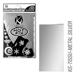 Пленка цветная для создания термопереносимого рисунка на ткань/ серебро металлик ,15х20 см