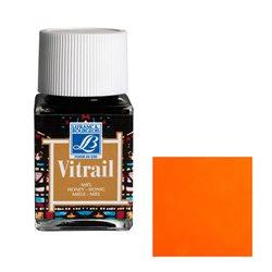 """Краска лаковая прозрачная по стеклу Lefranc Bourgeois """"Vitrail"""" №201 Оранжевая/б.50мл"""