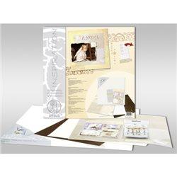 """Набор для Scrapbooking на подрамнике, 40х40 см.""""Рождество""""(подрамник, бумага, калька, аксессуары, наклейки)"""