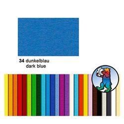 Картон цветной 50*70 Синий темный / 300 гр/м