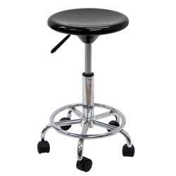 Рабочий стул- вертушка черный