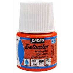 Краска по тканям с эффектом ЗАМШИ Setacolor Opaque effet DAIM апельсиновый/45мл
