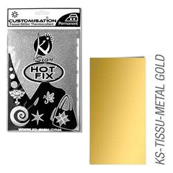 Пленка цветная для создания термопереносимого рисунка на ткань/ золотой металлик ,15х20 см