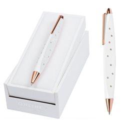 Роллер Crystal Style белый корпус, стразы/ подарочная упаковка