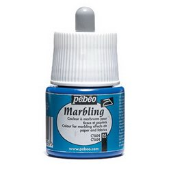 Краска Marbling для техники ЭБРУ/ 45 мл/ циан