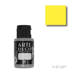 Желтый лимонный 007 ArteDeco, акриловая декоративная краска