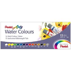 Акварель Pentel Water Colours, 15 цветов