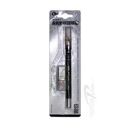 Нож худ.с мягкой ручкой, 10 мм. в комплекте с 3 запасными лезвиями