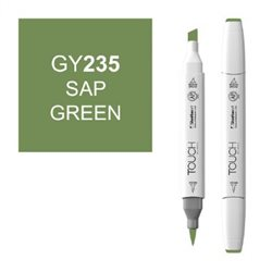 Маркер TOUCH BRUSH 235 зеленый сок GY235