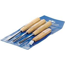 Набор компактных стамесок+ нож Kerb в пластиковом чехле Pfeil D4er
