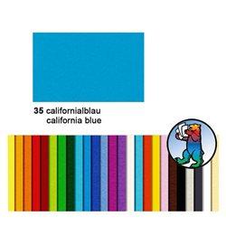 Картон цветной 50*70 Синий калифорнийский / 300 гр/м